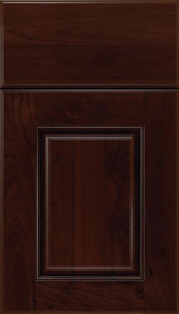 Whittington Cherry raised panel cabinet door in Cappuccino