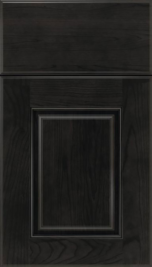 Whittington Cherry raised panel cabinet door in Charcoal