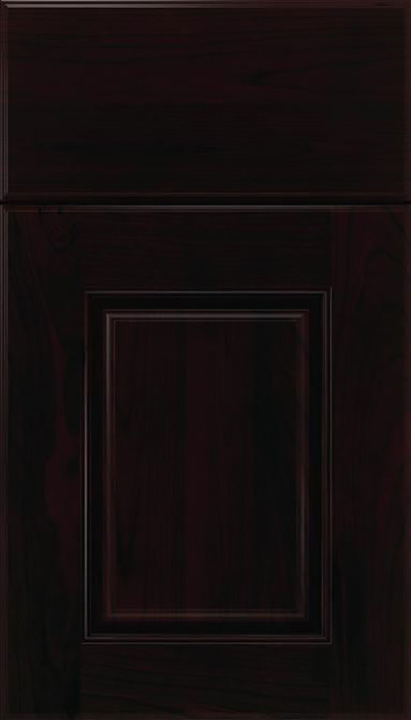 Whittington Cherry raised panel cabinet door in Espresso