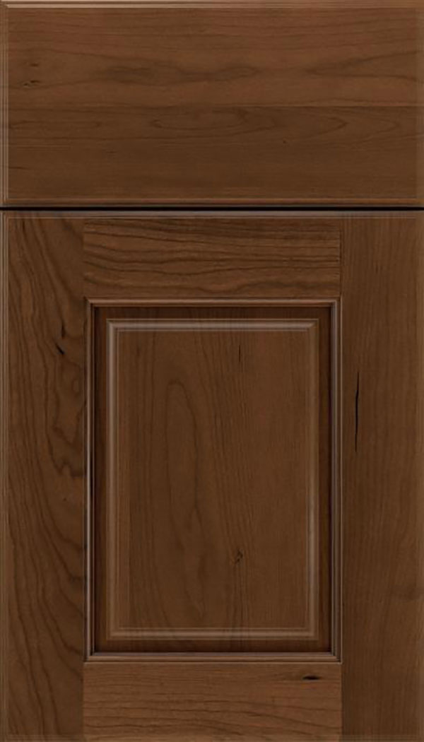 Whittington Cherry raised panel cabinet door in Sienna