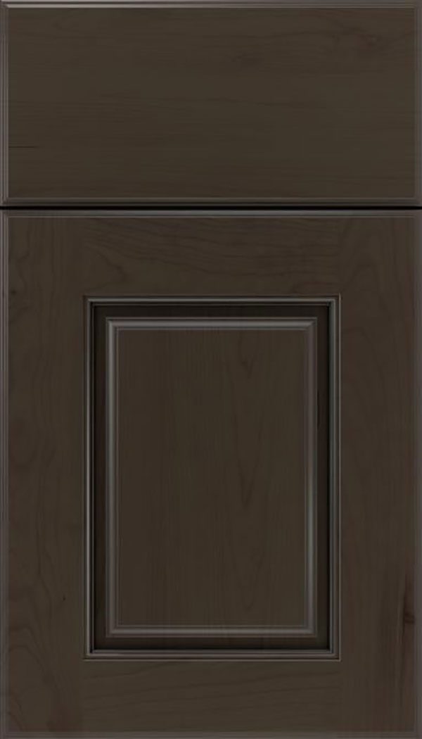 Whittington Cherry raised panel cabinet door in Thunder