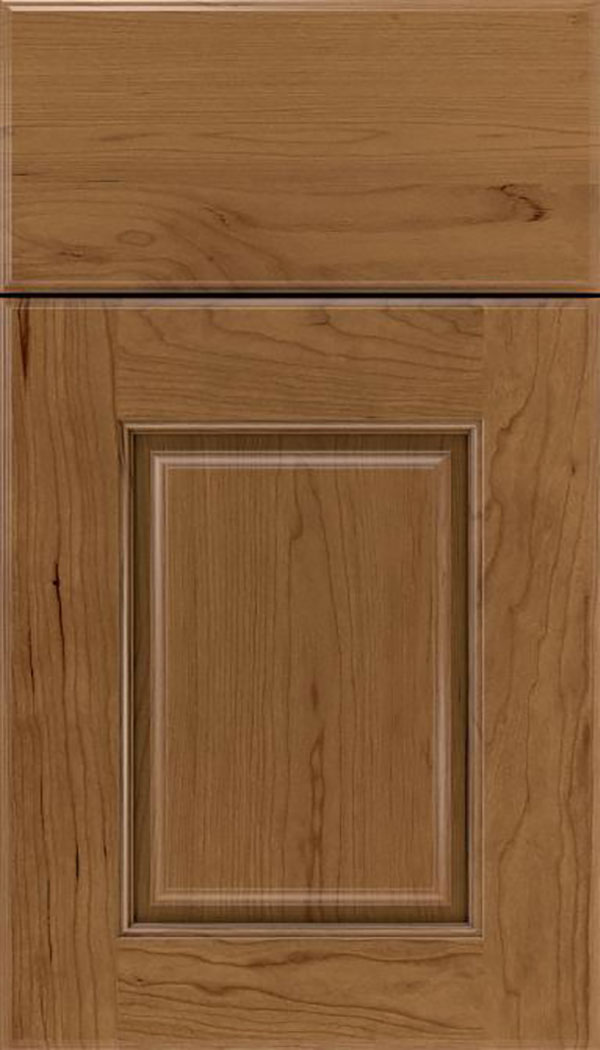 Whittington Cherry raised panel cabinet door in Tuscan