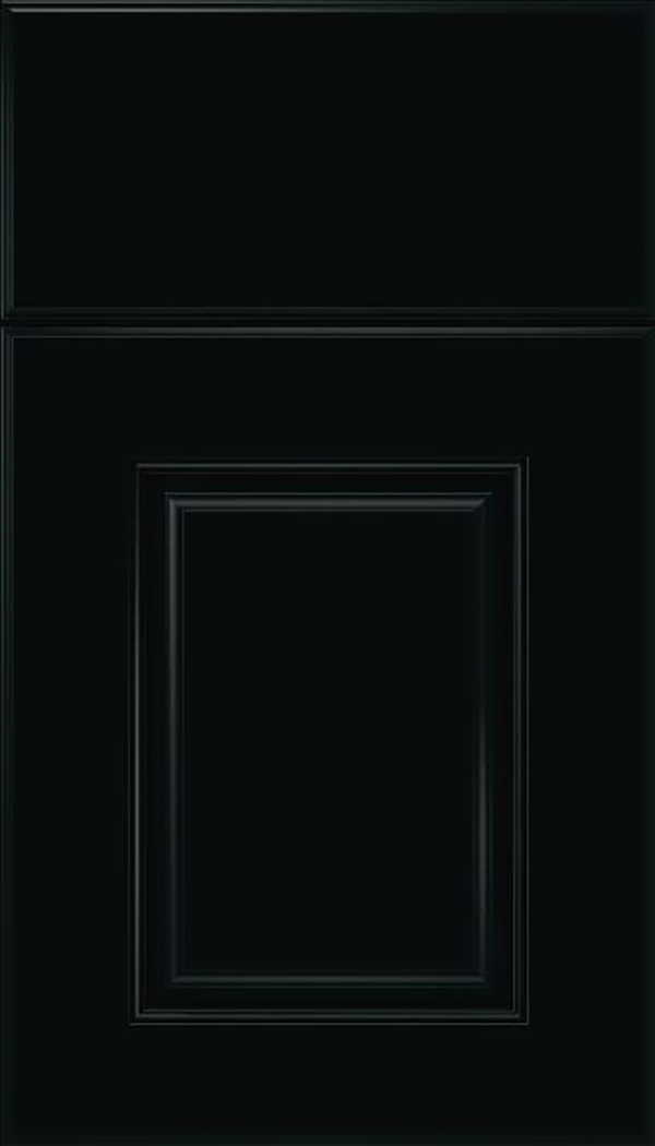 Whittington Maple raised panel cabinet door in Black