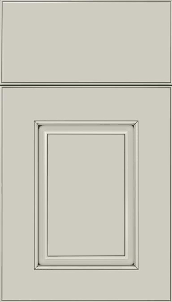 Whittington Maple raised panel cabinet door in Cirrus with Smoke glaze