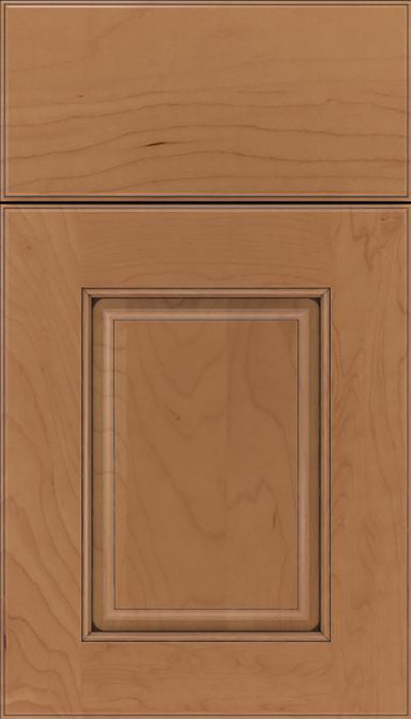 Whittington Maple raised panel cabinet door in Nutmeg with Mocha glaze