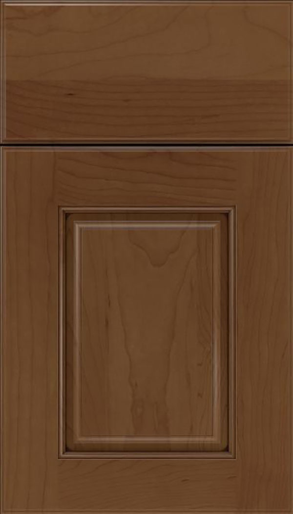 Whittington Maple raised panel cabinet door in Sienna with Mocha glaze