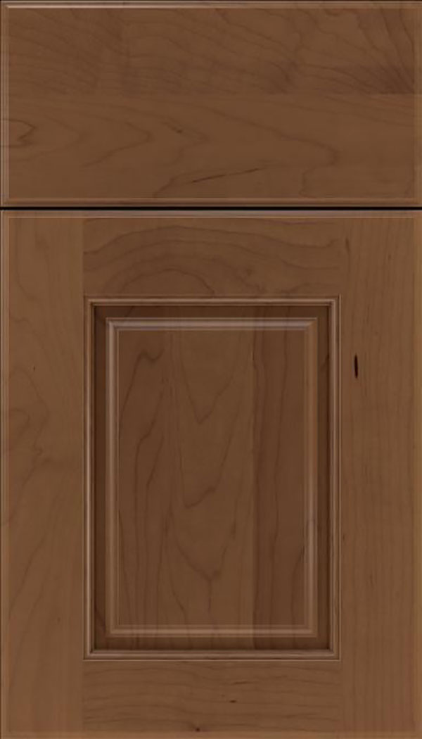 Whittington Maple raised panel cabinet door in Toffee