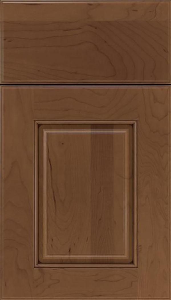 Whittington Maple raised panel cabinet door in Toffee with Mocha glaze