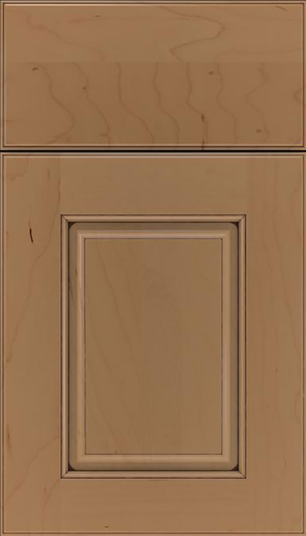 Whittington Maple raised panel cabinet door in Tuscan with Mocha glaze