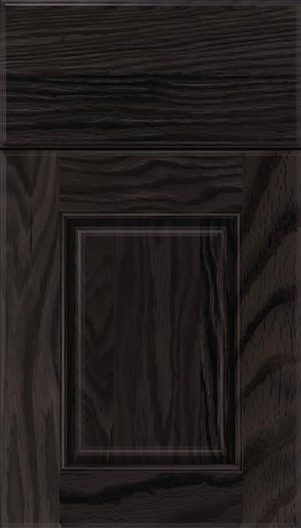 Whittington Oak raised panel cabinet door in Espresso