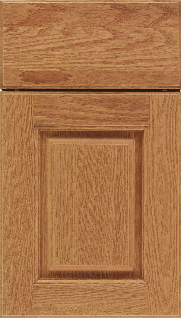 Whittington Oak raised panel cabinet door in Spice