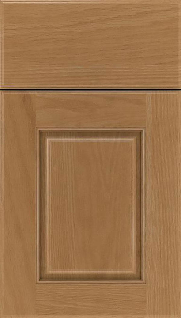 Whittington Oak raised panel cabinet door in Tuscan