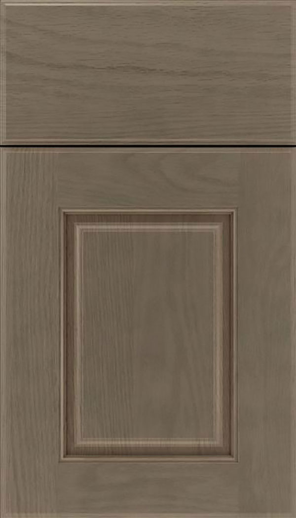 Whittington Oak raised panel cabinet door in Winter