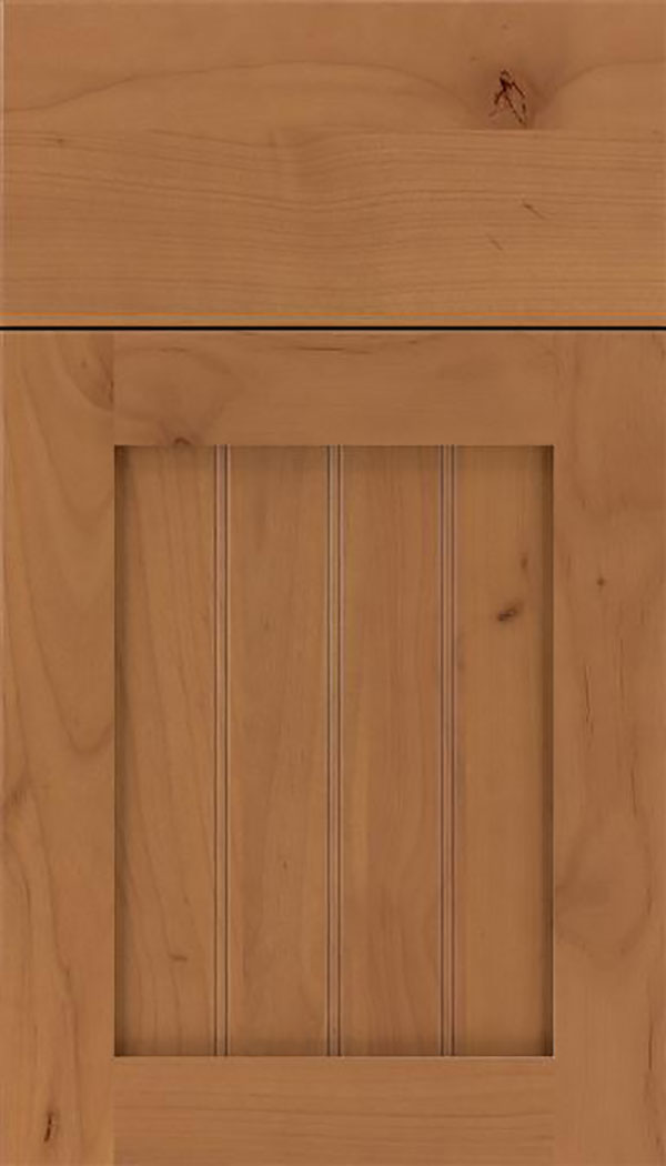 Winfield Alder beadboard cabinet door in Ginger