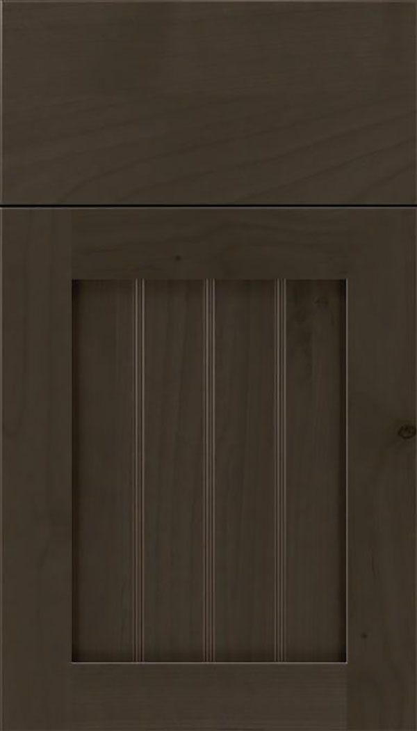 Winfield Alder beadboard cabinet door in Thunder