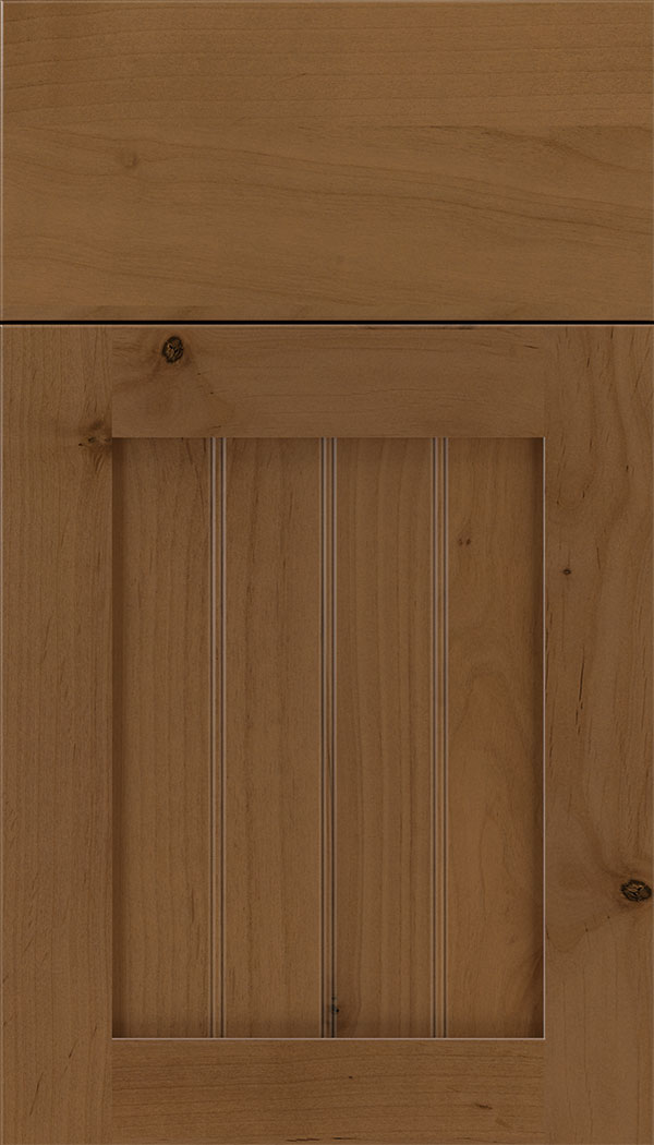 Winfield Alder beadboard cabinet door in Tuscan