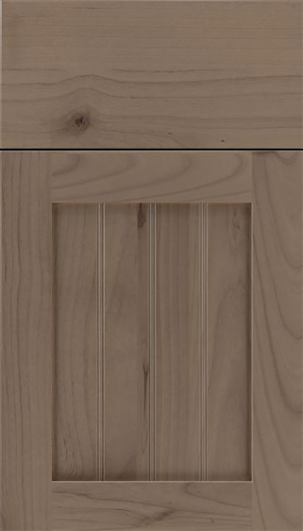 Winfield Alder beadboard cabinet door in Winter