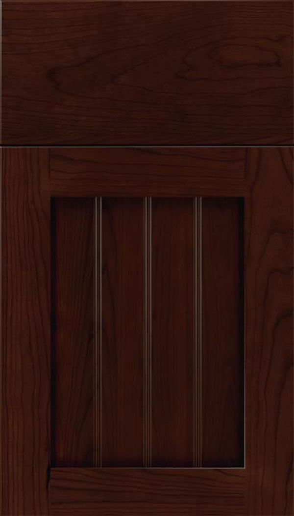 Winfield Cherry beadboard cabinet door in Cappuccino