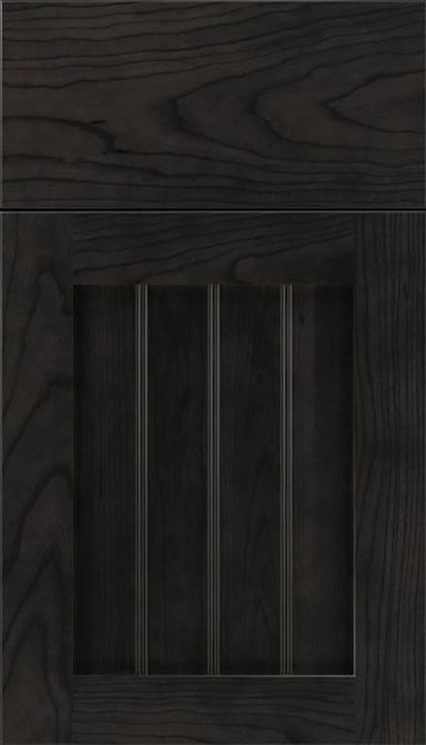 Winfield Cherry beadboard cabinet door in Charcoal