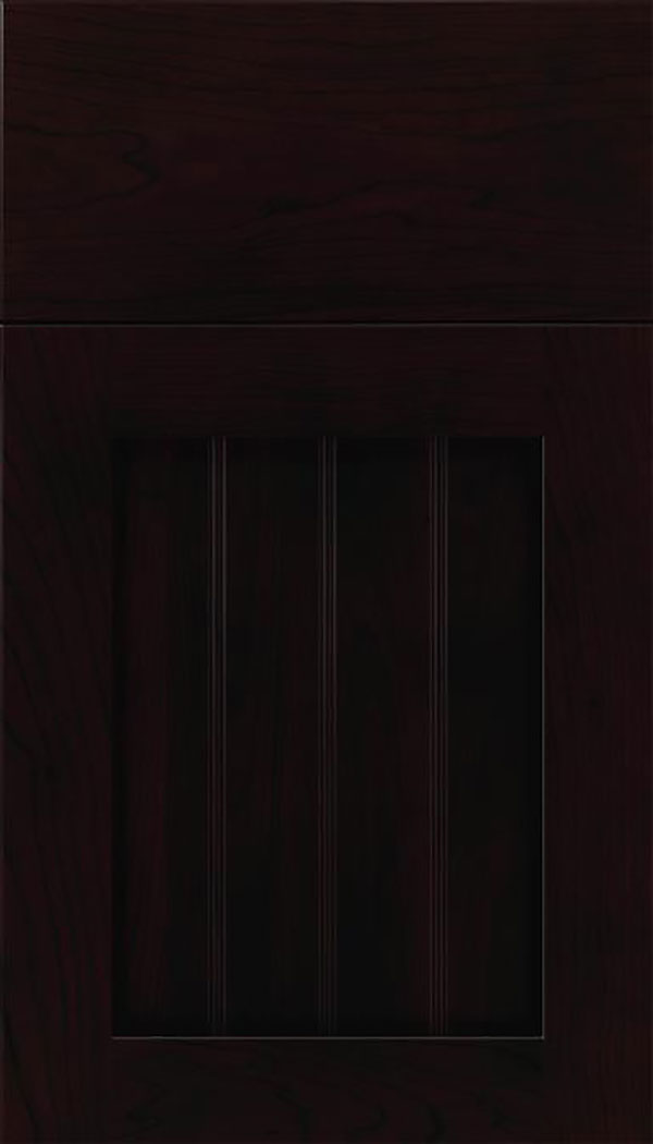 Winfield Cherry beadboard cabinet door in Espresso