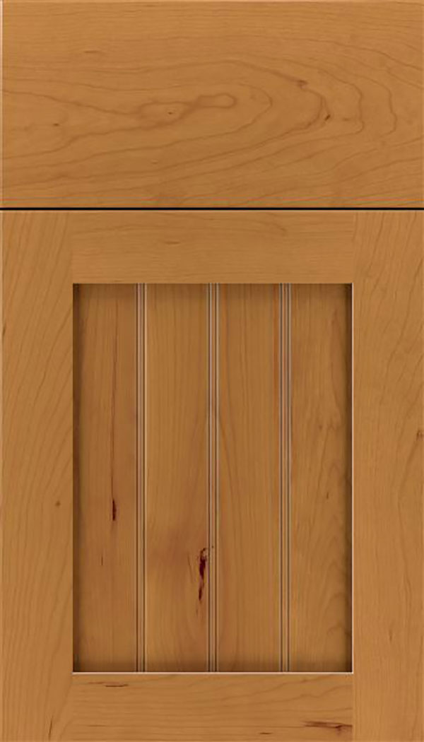Winfield Cherry beadboard cabinet door in Ginger