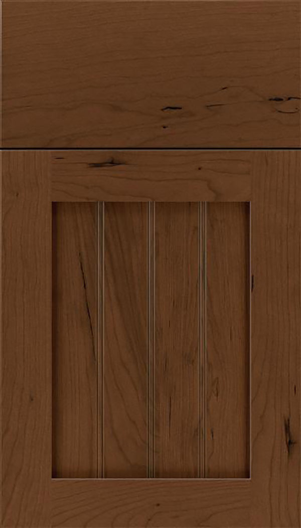 Winfield Cherry beadboard cabinet door in Sienna
