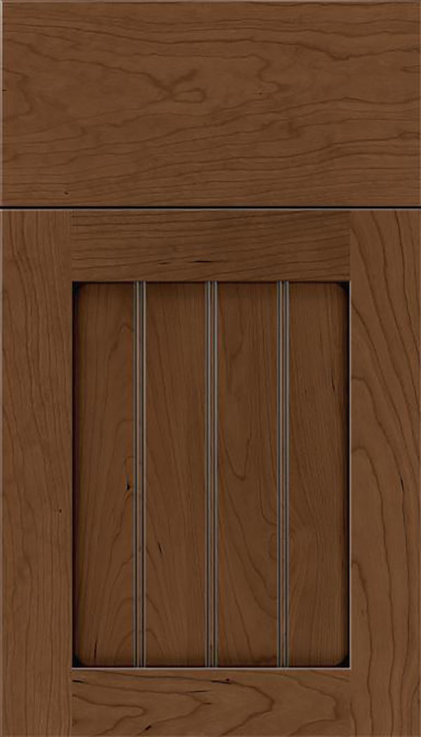 Winfield Cherry beadboard cabinet door in Toffee with Mocha glaze