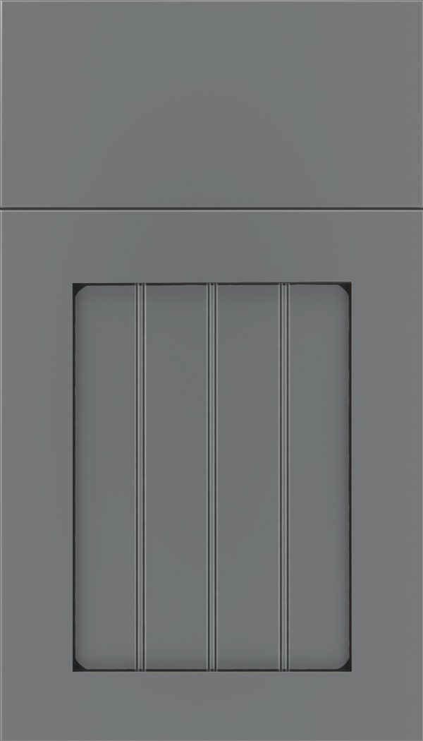 Winfield Maple beadboard cabinet door in Cloudburst with Black glaze