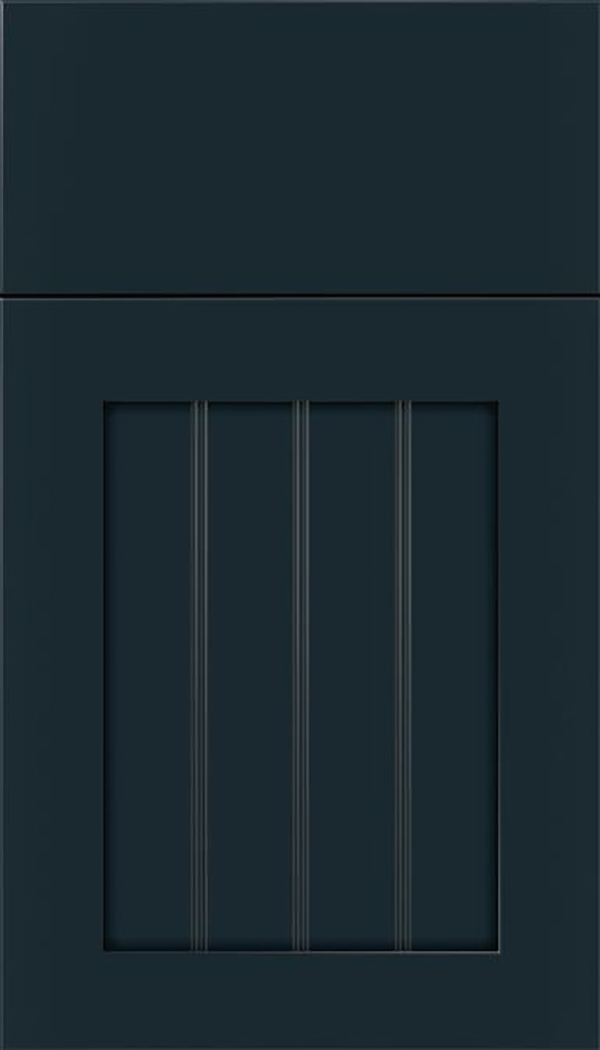 Winfield Maple beadboard cabinet door in Gunmetal Blue