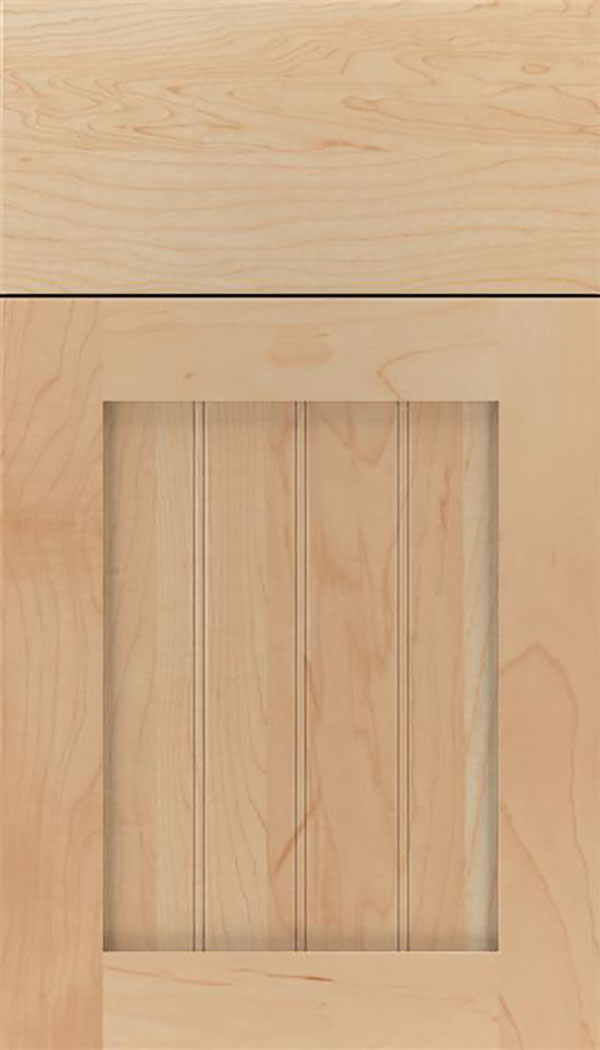 Winfield Maple beadboard cabinet door in Natural
