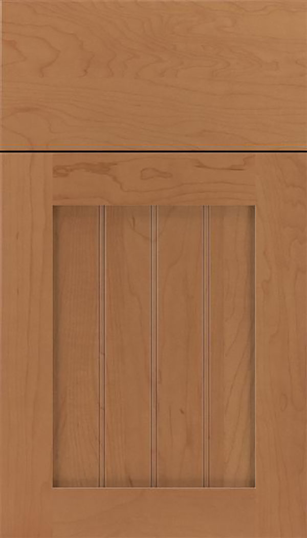 Winfield Maple beadboard cabinet door in Nutmeg