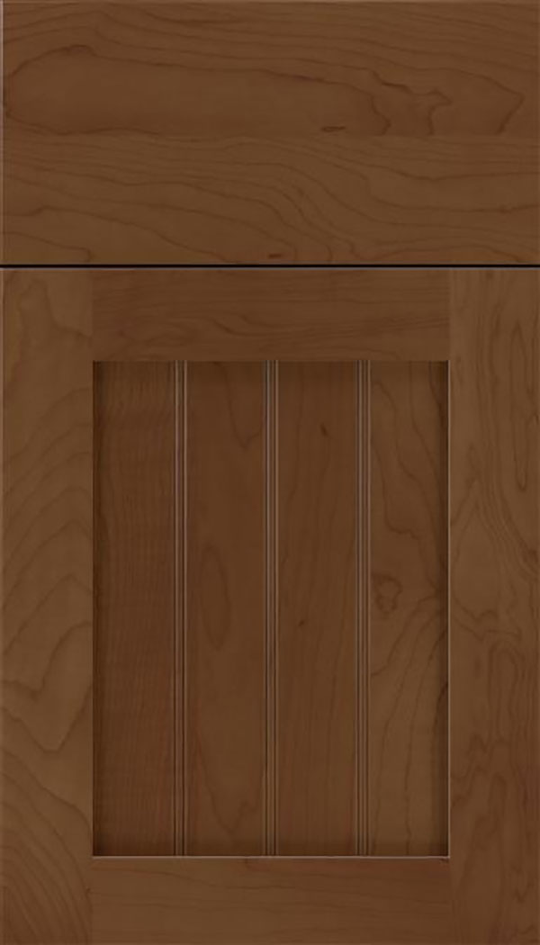 Winfield Maple beadboard cabinet door in Sienna