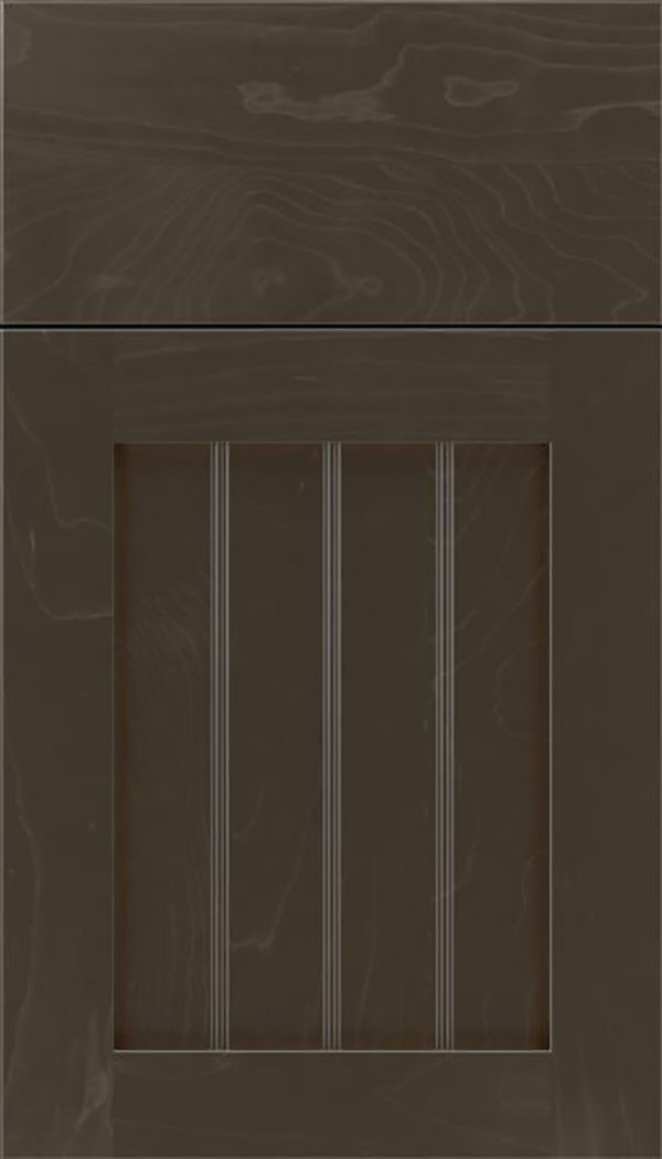 Winfield Maple beadboard cabinet door in Thunder