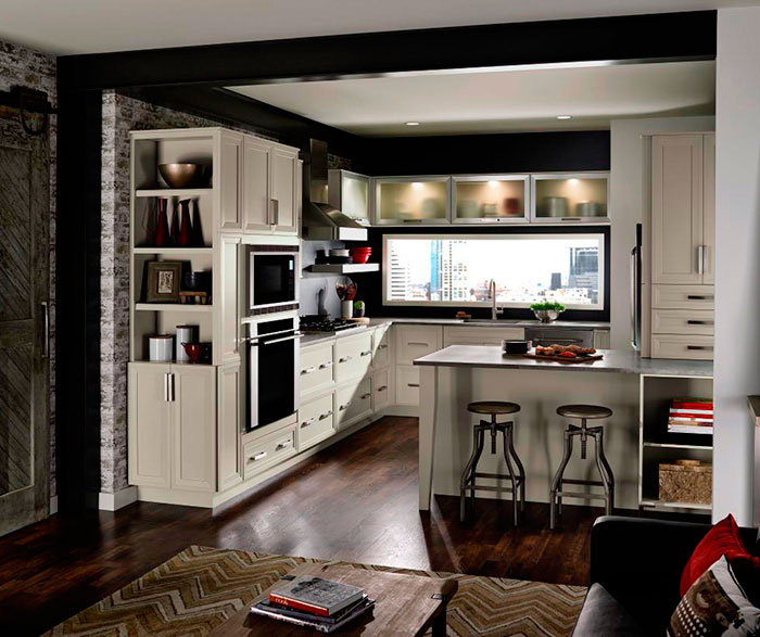 Grey Cabinets In Casual Kitchen