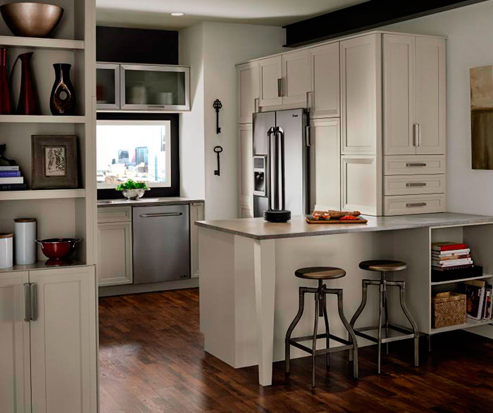 ... Grey Cabinets In Casual Kitchen By Kitchen Craft Cabinetry ...