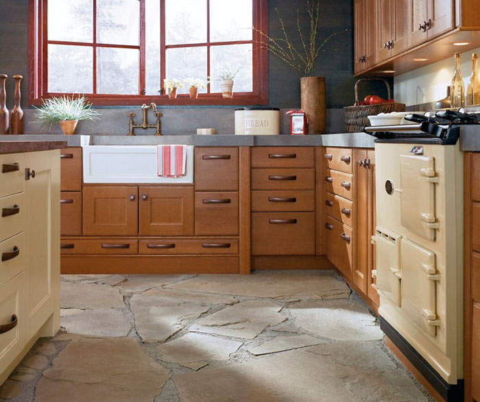 ... Rustic Kitchen Cabinets In Rift Oak By Kitchen Craft Cabinetry ...