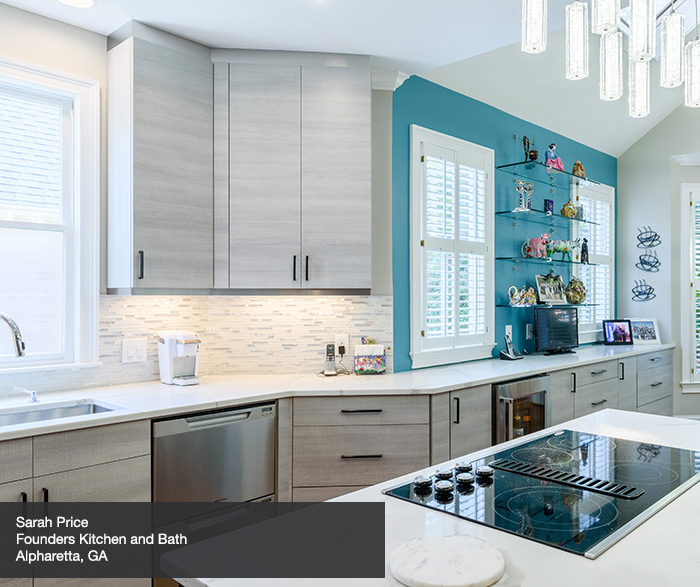 Contemporary Melamine Kitchen Cabinets In Pier Finish