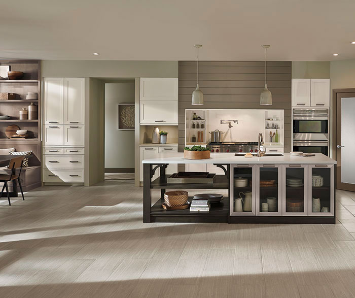 Casual open kitchen design by Kitchen Craft Cabinetry ... : bi-fold-kitchen-cabinet-doors - kurilladesign.com