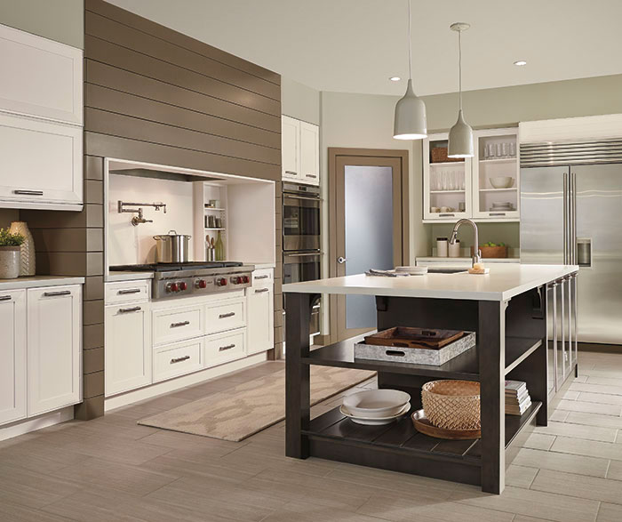 ... Casual open kitchen design by Kitchen Craft Cabinetry ... : bi-fold-kitchen-cabinet-doors - kurilladesign.com