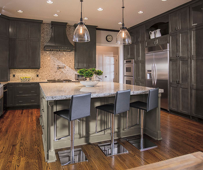 Exceptionnel Casual Grey Kitchen Cabinets By Kitchen Craft Cabinetry ...