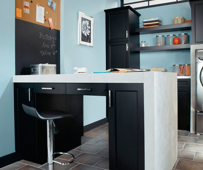 Laundry Room Cabinets in Black