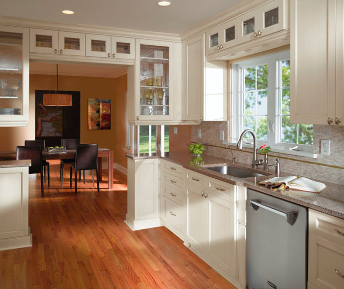 Nice ... Off White Cabinets In Casual Kitchen By Kitchen Craft Cabinetry ...