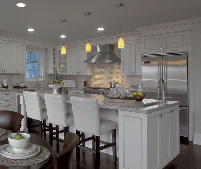 ... Painted Kitchen Cabinets In Alabaster By Kitchen Craft Cabinetry ...