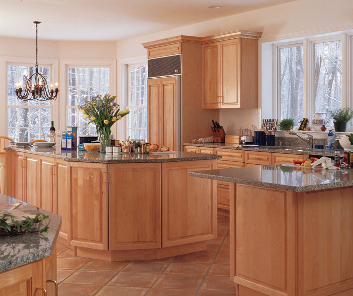 Lovely Light Maple Cabinets In Kitchen By Kitchen Craft Cabinetry ...