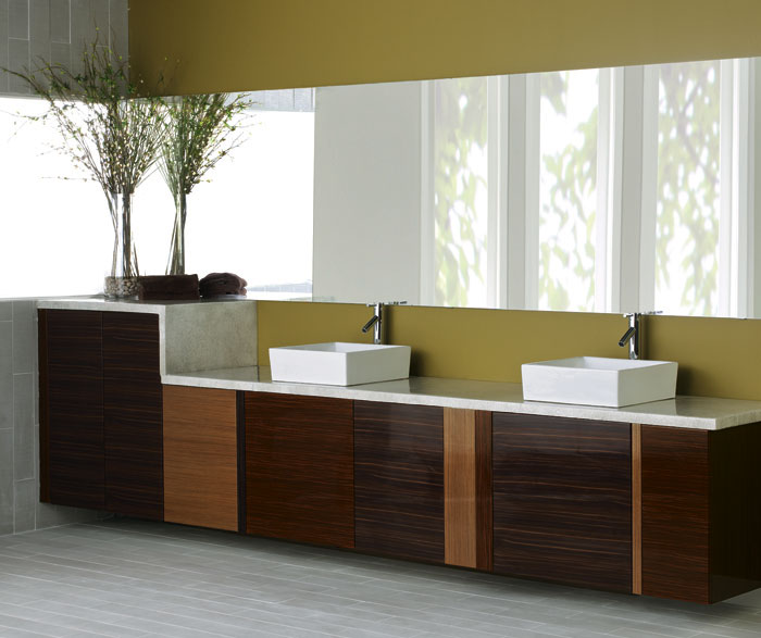 ... High Gloss Cabinets In Contemporary Bathroom By Kitchen Craft Cabinetry  ...