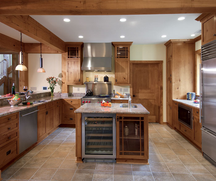 Great Knotty Alder Kitchen Cabinets In Natural Finish By Kitchen Craft Cabinetry