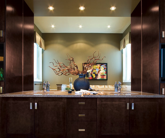 ... Espresso Shaker Cabinets In Bathroom By Kitchen Craft Cabinetry ...