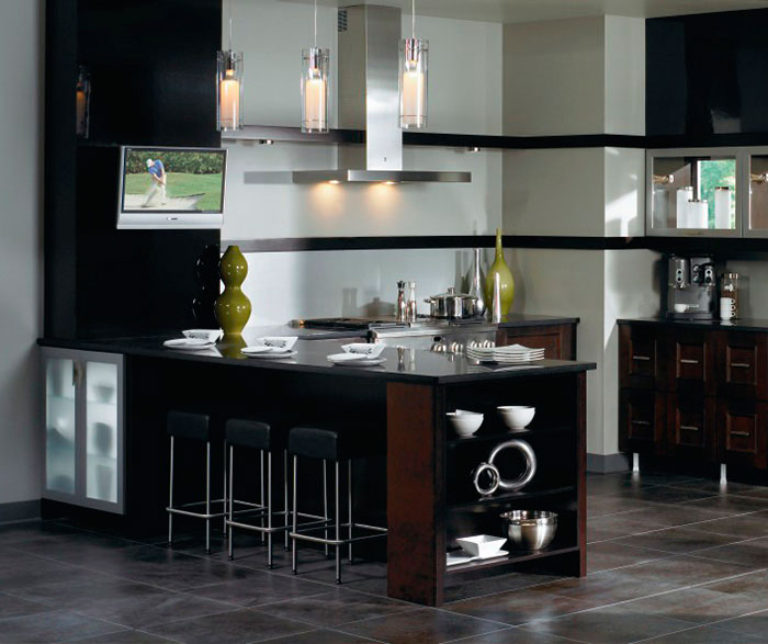 ... Contemporary Kitchen Cabinets In Espresso Finish By Kitchen Craft  Cabinetry ...