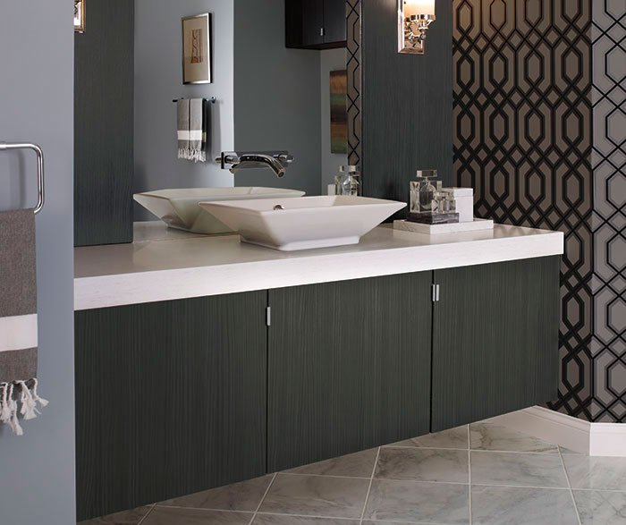Merveilleux Contemporary Bathroom Vanity In Thermofoil By Kitchen Craft Cabinetry ...