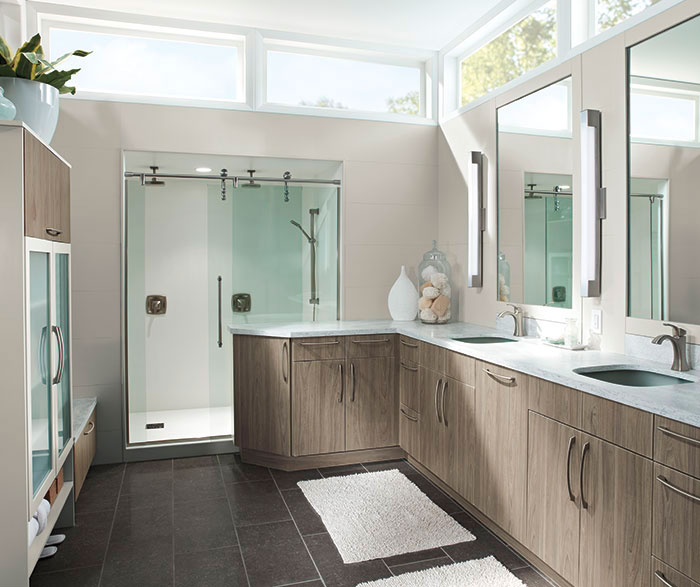 ... Modern Bathroom Cabinets In Thermofoil By Kitchen Craft Cabinetry ...